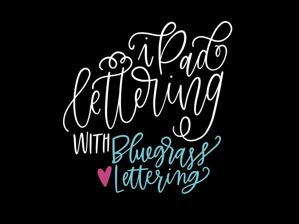 The Simple guide to iPad Pro Lettering with Bluegrass Lettering!