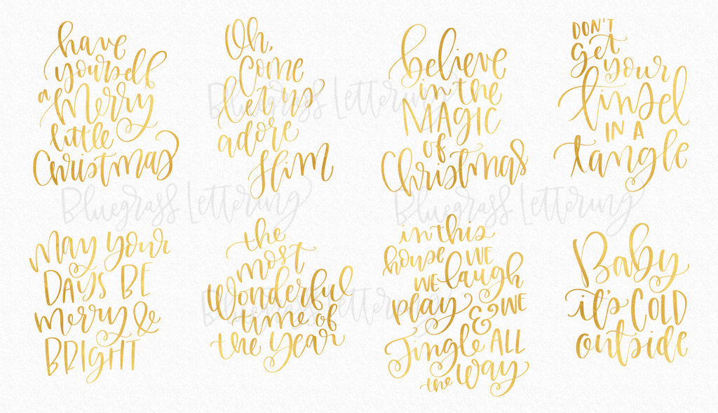 Handlettered Holiday SVG Cut Files