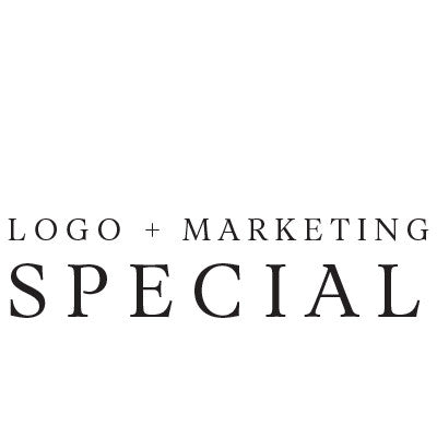 Hand Lettered Logo Design + 5 Pack Marketing Kit Design