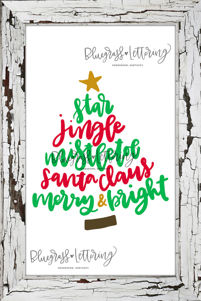Handlettered Christmas SVG Bundle