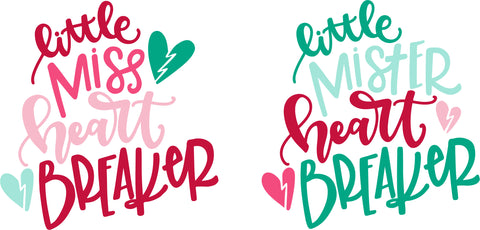 Little Miss & Mister Heartbreaker SVG