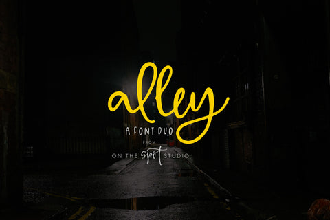 Alley Font Duo