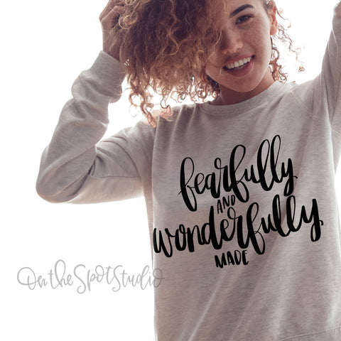 Fearfully & Wonderfully Made SVG Cut File
