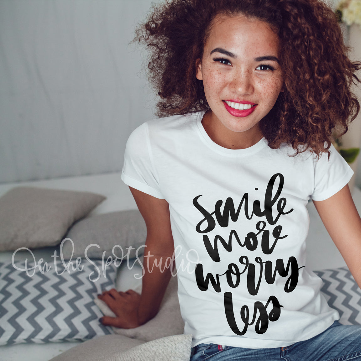 Smile More Worry Less SVG Cut File