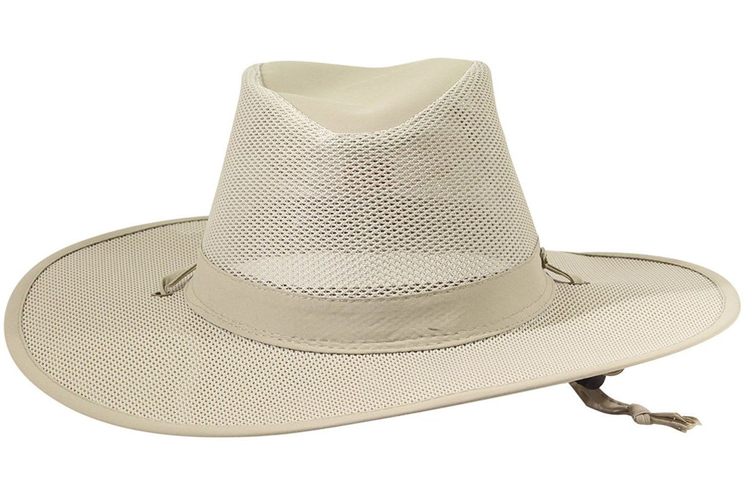 Stetson No Fly Zone Insect Shield Nylon Mesh Safari with Chin Cord Hat ... 950ae9351145