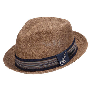af38fa096bfc Santana Forward Grosgrain Guitar Pin 1-1/2 In Brim Fedora (SAN359 ...