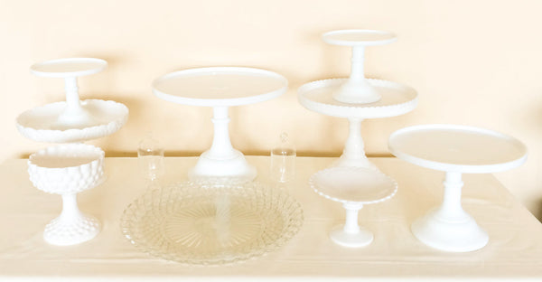 Classic Milk White Dessert Stand Collection, Top View