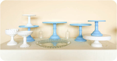 Robinson Blue Cake and Dessert Stands - Julia's Cake Stand Rentals