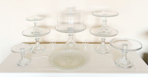 Crystal Clear Dessert Stands, Top View