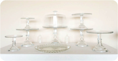 Crystal Clear Dessert Stands - Julia's Cake Stand Rentals