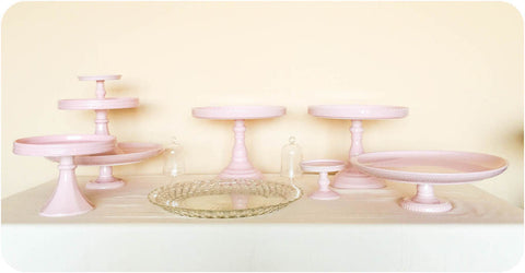 Rosanna Pink Cake and Dessert Stands - Julia's Cake Stand Rentals