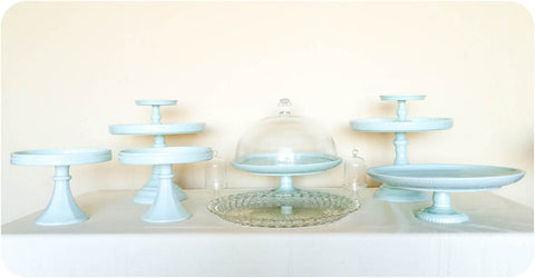 Turquoise Cake and Dessert Stands - - Julia's Cake Stand Rentals