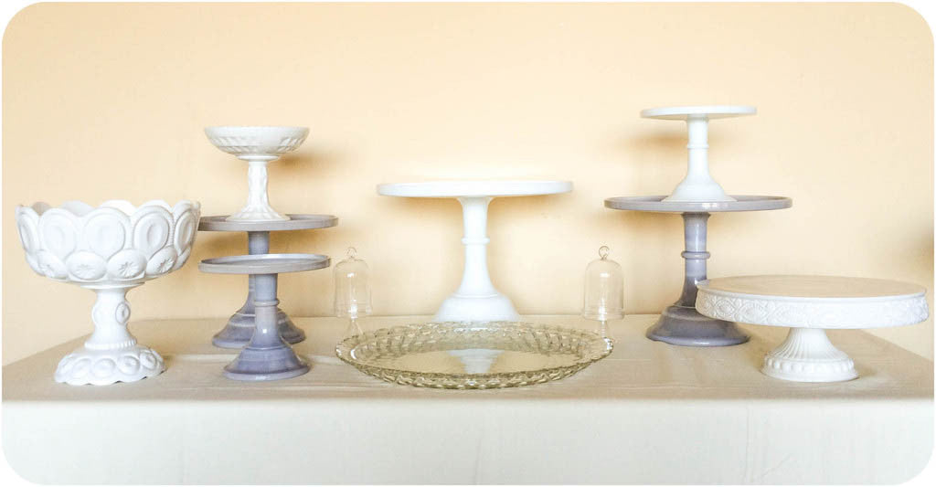 Marble Gray Cake Stands - Julia's Cake Stand Rentals