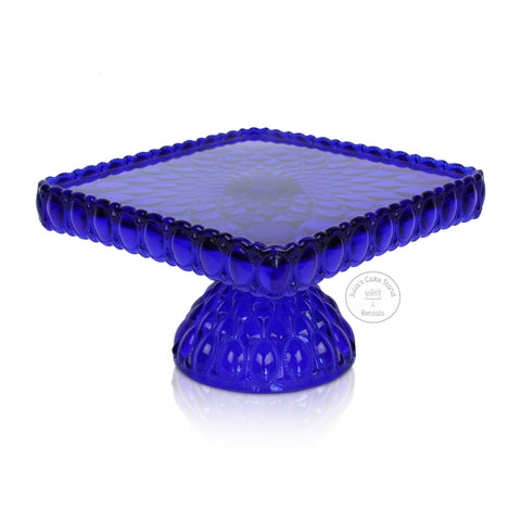 Cobalt Blue Cake Stand - angle view