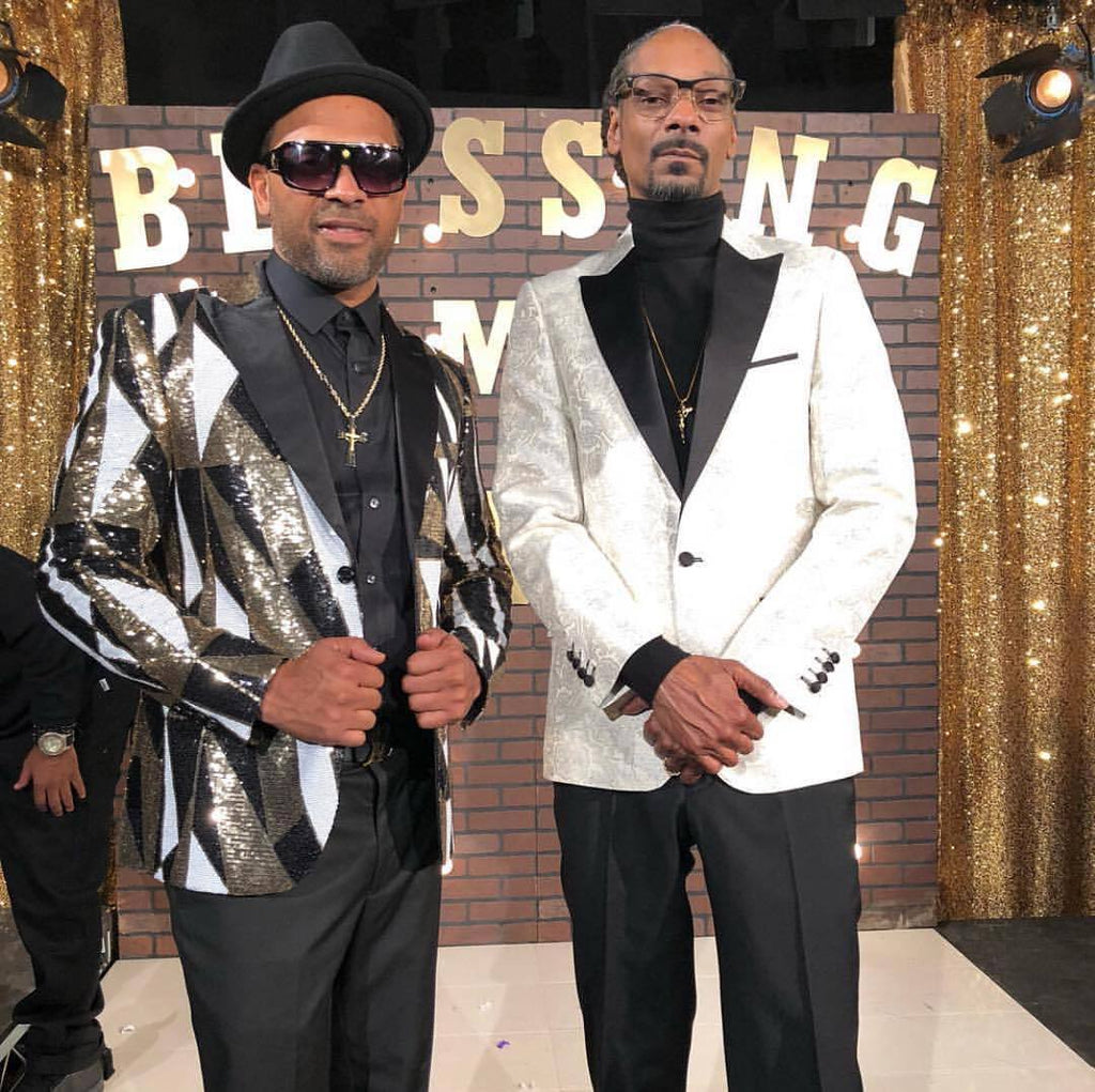 Mike Epps Featured in Snoop Dogg Music Video, wearing Giovanni Testi
