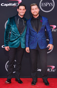 "Lance Bass and Michael Turchin make ""best dressed"" lists in Giovanni Testi at the ESPY Awards"