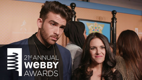 Hasan Piker accepts Webby Award wearing Giovanni Testi