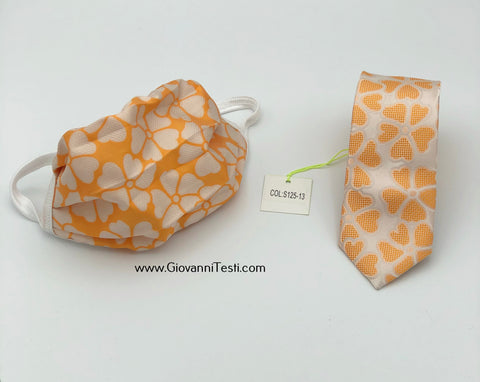Face Mask & Tie Set S125-13, Orange