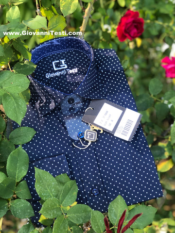 Face Mask & Shirt Set, GT-10112 Navy