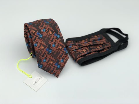 Face Mask & Tie Set S14-3, Rust
