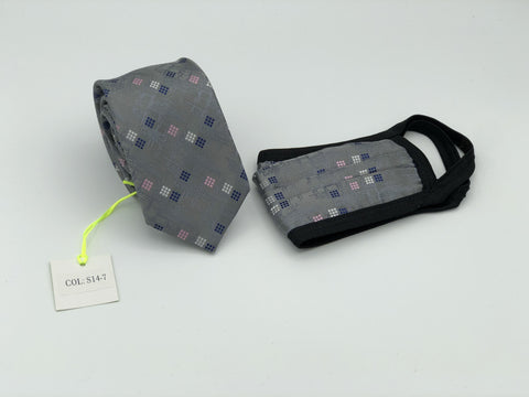 Face Mask & Tie Set S14-7, Charcoal
