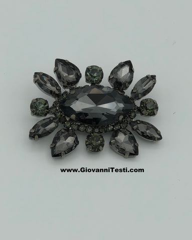 GT-Pin Black / Green Flower