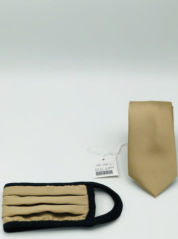 Face Mask & Tie Set S56-1, Tan
