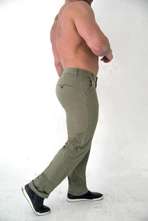 Men's Athletic Fit Chino  || Keirin Cut Chino - Army Green