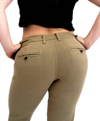 Women's Athletic Fit Chinos | Keirin Cut Chinos - Khaki