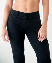 Women's Athletic Fit Chinos || Keirin Cut Chinos - Black