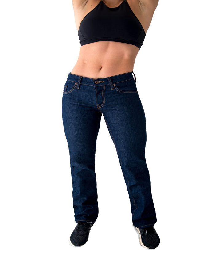 Women's Athletic Fit Jeans | Keirin Cut Jeans - Straight Leg - Izu II