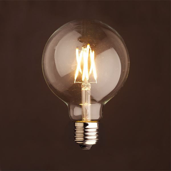 E27 4w LED XL Round Dimmable Filament Bulb - TheRetroStation