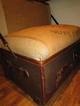 "The ""Trunkie chair"" an Upcycled Steamer Trunk alternative, hand crafted seating with bespoke designs - TheRetroStation  - 9"