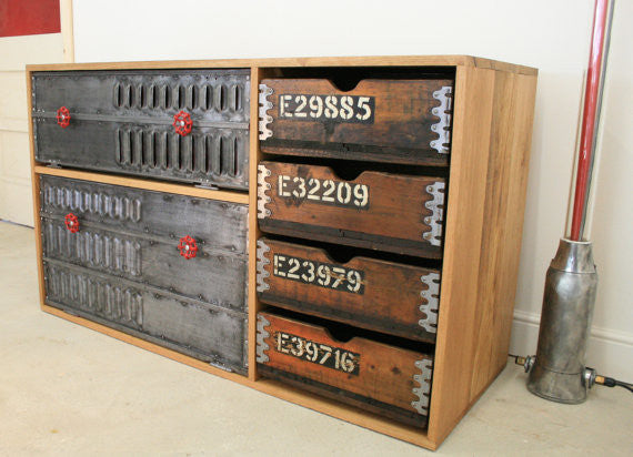Beautiful Bespoke kitchen cabinet vintage industrial sideboard /storage solution - TheRetroStation  - 1