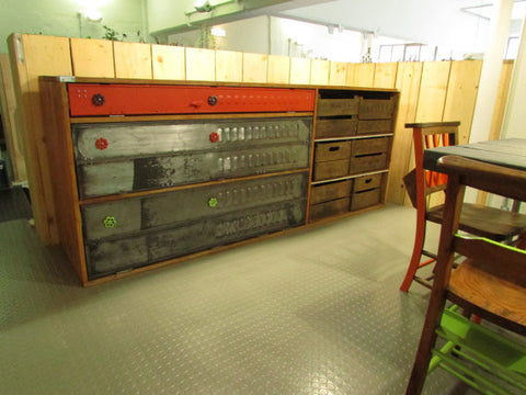 Bespoke Vintage Industrial sideboard, kitchen unit - TheRetroStation  - 1