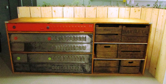 Bespoke Vintage Industrial sideboard, kitchen unit - TheRetroStation  - 2