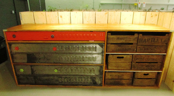 Bespoke Vintage Industrial sideboard, kitchen unit - TheRetroStation  - 4