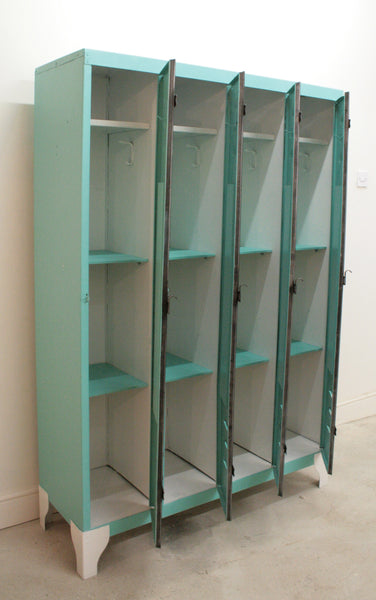 1950's 4 door lockers from Renault factory with diamond detailing - TheRetroStation  - 5