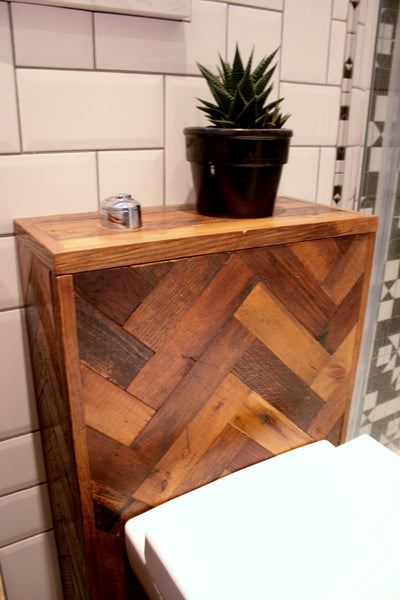 Bespoke Oak Parquet Bathroom Suite - TheRetroStation  - 5