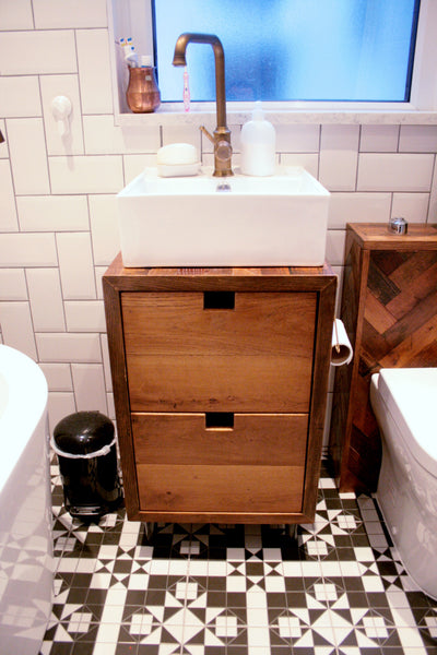 Bespoke Oak Parquet Bathroom Suite - TheRetroStation  - 3