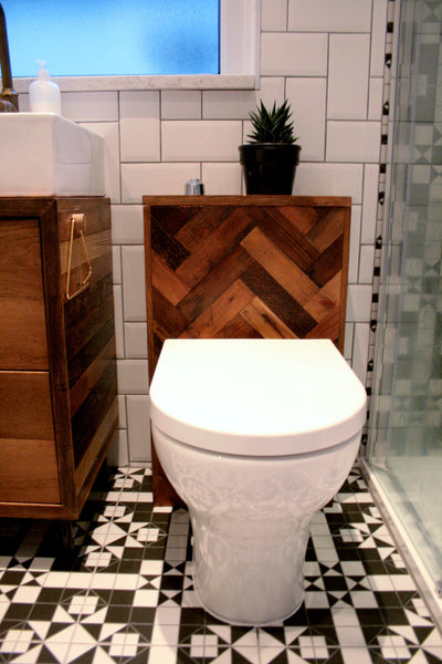 Bespoke Oak Parquet Bathroom Suite - TheRetroStation  - 4