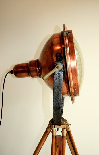 1960's Copper Search Light Originally from the Concorde Factory in Bristol England VERY RARE - TheRetroStation  - 2