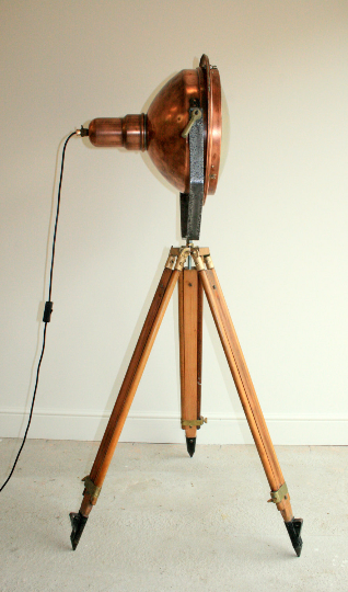 1960's Copper Search Light Originally from the Concorde Factory in Bristol England VERY RARE - TheRetroStation  - 3
