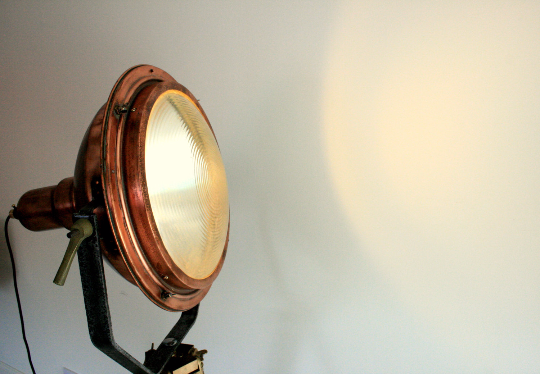 1960's Copper Search Light Originally from the Concorde Factory in Bristol England VERY RARE