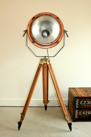 1960's Copper Search Light Originally from the Concorde Factory in Bristol England VERY RARE - TheRetroStation  - 1