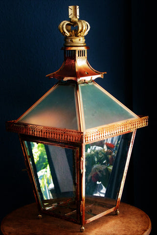 Large antique copper lanterns, beutifull lighting - TheRetroStation - 1