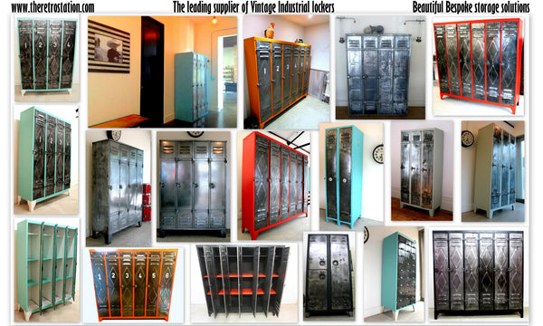 French Vintage Industrial Lockers - TheRetroStation  - 12