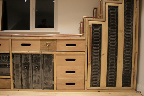 Bespoke vintage industrial storage solution crafted using vintage components - TheRetroStation  - 3