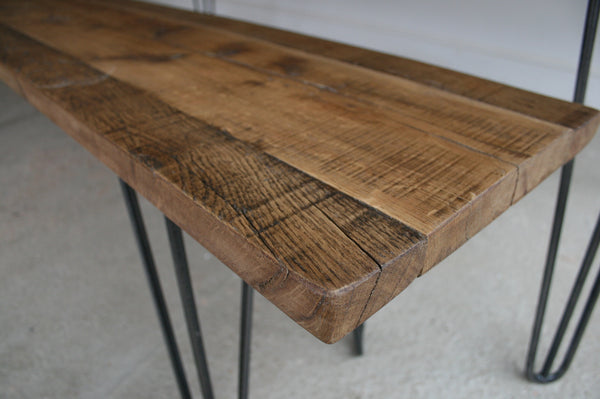 Hand Crafted Hairpin Leg Bench built to size using reclaimed wood - TheRetroStation  - 6