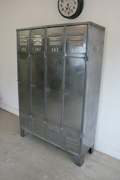 Vintage Industrial 4 Door Locker - TheRetroStation  - 1